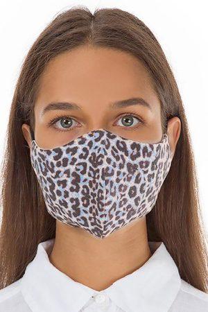 Grizas blue leopard face mask