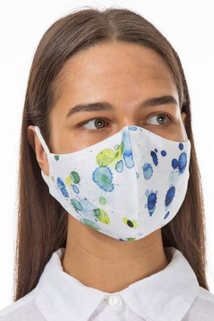 Grizas blue splat face mask
