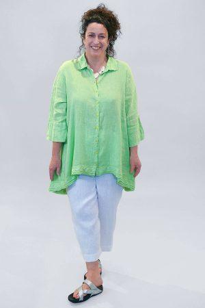 Grizas uneven linen shirt
