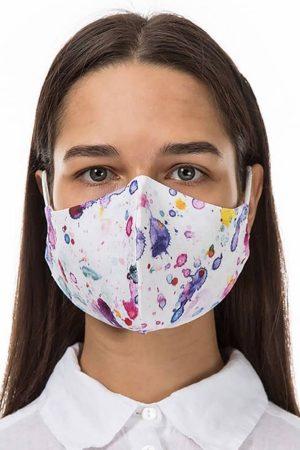 Grizas pink splat face mask