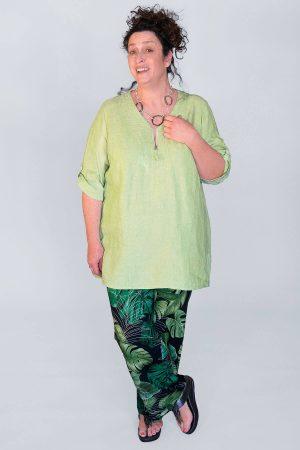 Doris Streich linen top pistachio