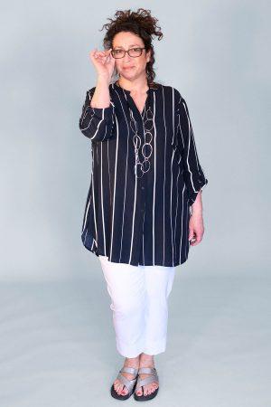Doris Streich long stripe shirt