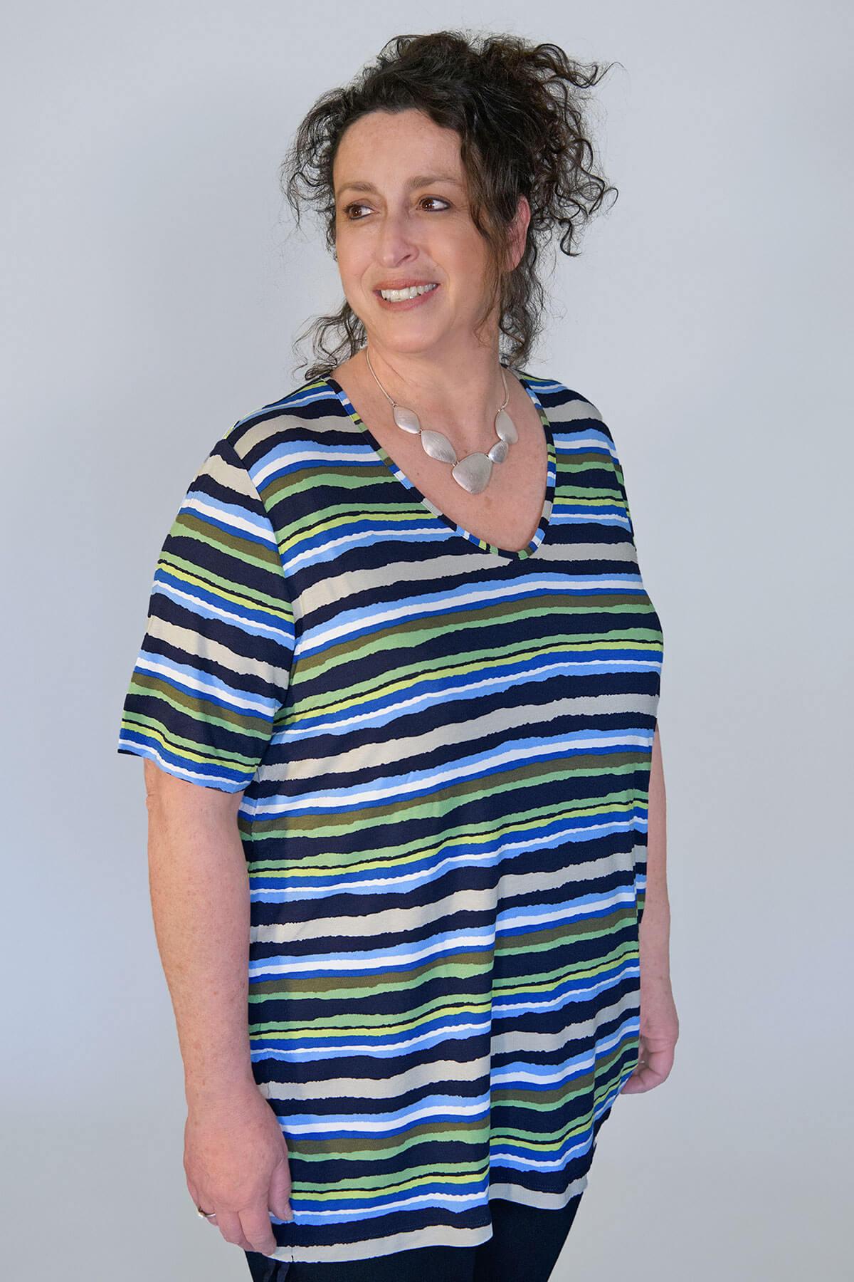 Via Appia striped t-shirt navy