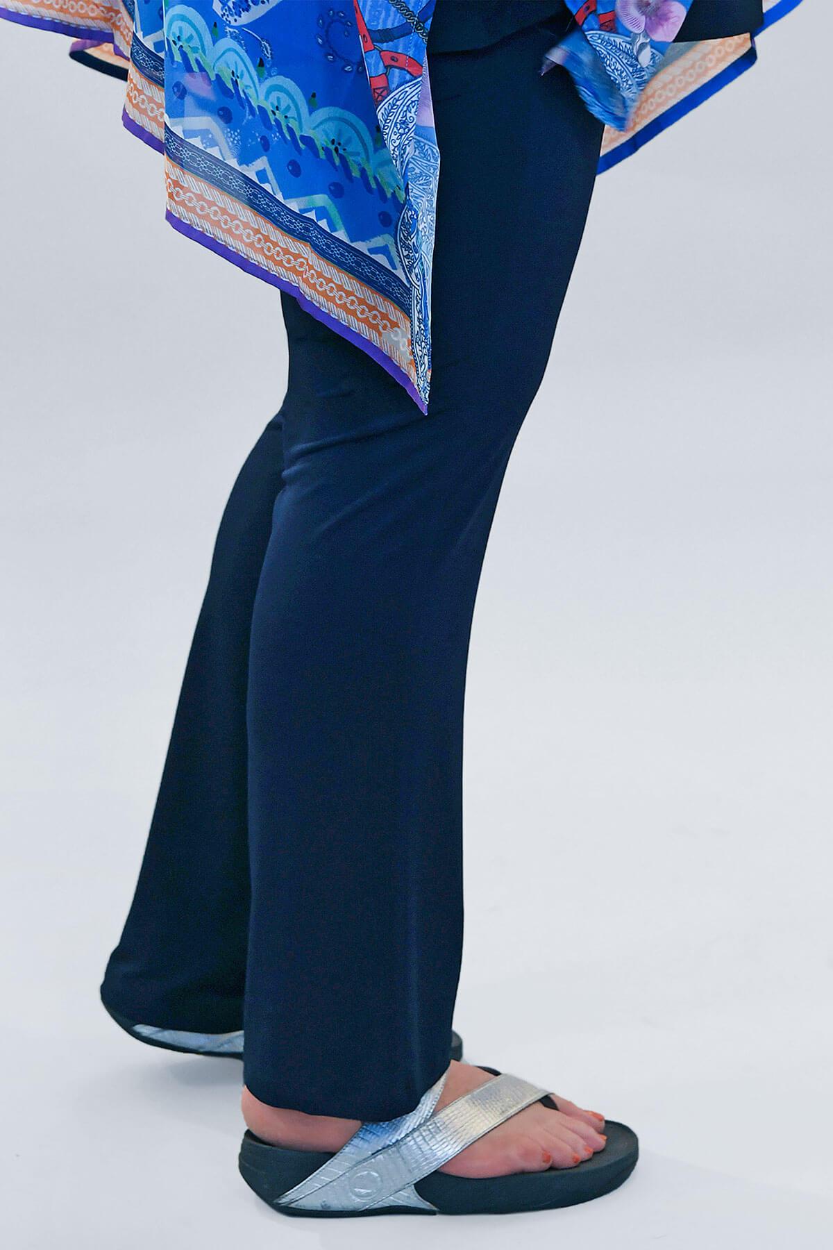 Yoek silky jersey narrow trousers